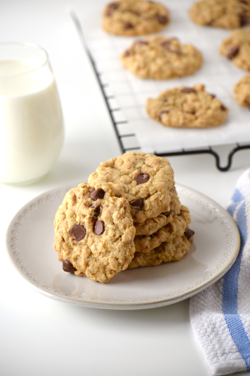 Chocolate Chip Oatmeal Cookies Gluten Free Vegan Just